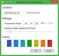 AeroWeather Screenshot