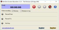 AimOne Screen Recorder Screenshot