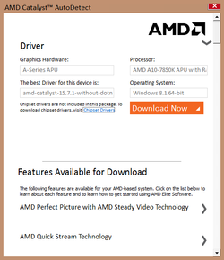 AMD Driver Autodetect Screenshot