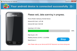Android File Recovery Screenshot