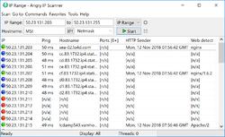 Angry IP Scanner Screenshot