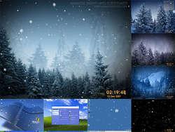 Animated SnowFlakes Screensaver Screenshot