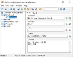 AnyPassword Screenshot