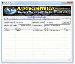 ArpCacheWatch Screenshot