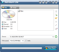 how to use astroburn lite