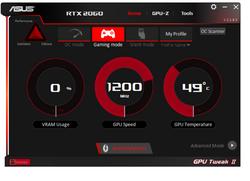 ASUS GPU Tweak 2 Screenshot