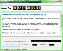 Atelier Web Firewall Tester Screenshot