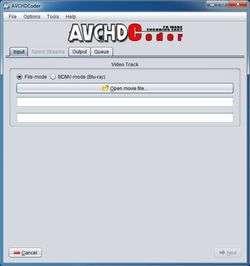 AVCHD Coder Screenshot