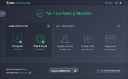 AVG Anti-Virus Free Edition Screenshot