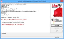 Avira AntiVir Removal Tool Screenshot