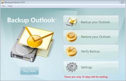 Backup Outlook Screenshot