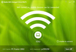 Baidu WiFi Hotspot Screenshot