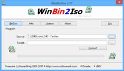 BIN2ISO Screenshot