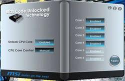 BIOS Code Unlocked Technology Screenshot