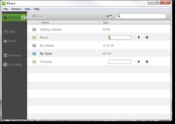 Bitcasa Screenshot