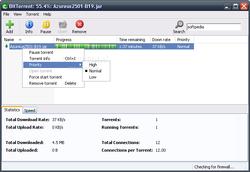 BitTorrent Screenshot