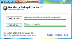 BlackBerry Backup Extractor Screenshot