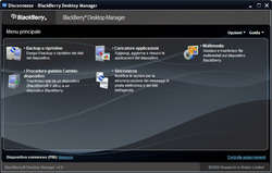 BlackBerry Desktop Manager Screenshot