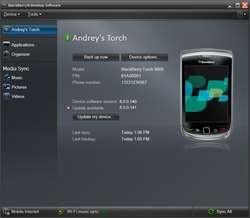 BlackBerry Desktop Screenshot
