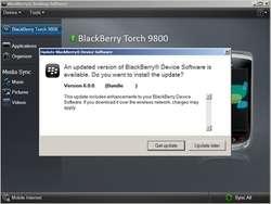 BlackBerry Device Updater Screenshot