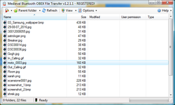 Bluetooth File Transfer (PC) Screenshot