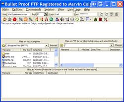 BulletProof FTP Client Screenshot