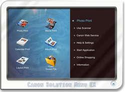 Canon Solution Menu Screenshot
