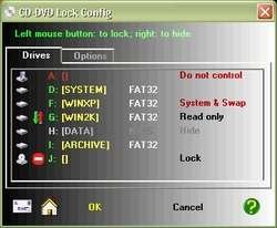 CDDVD Lock Screenshot