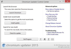 Chromium Updater Screenshot