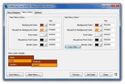 CoffeeCup Free DHTML Menu Builder Screenshot