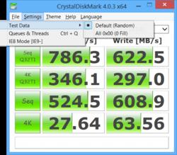 CrystalDiskMark Portable Screenshot