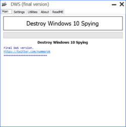Destroy Windows 10 Spying Screenshot