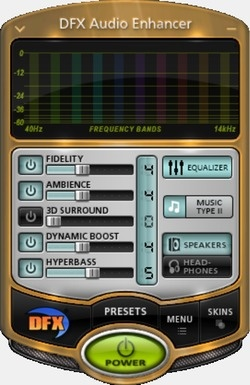DFX Audio Enhancer Screenshot