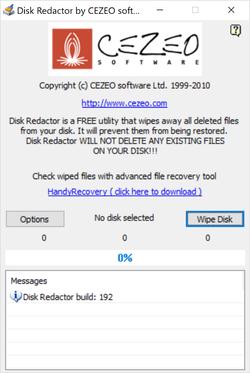 Disk Redactor Screenshot