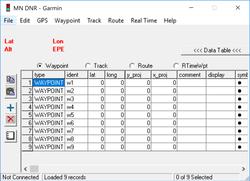 DNRGarmin Screenshot