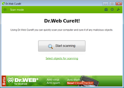 Doctor Web CureIt Screenshot