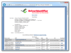 Driver Identifier Screenshot