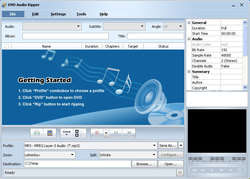 DVD Audio Ripper Screenshot