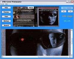 DVD-Cover Printmaster Screenshot