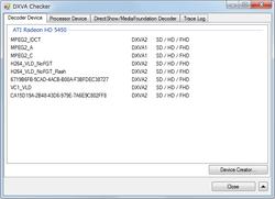 DXVA Checker Screenshot