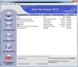 East-Tec File Shredder Screenshot