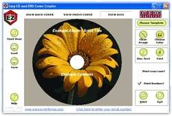 Easy CD & DVD Cover Creator and Disc Label Maker Screenshot