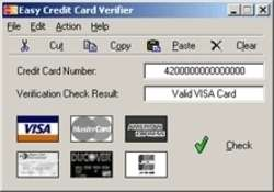 Easy Credit Card Verifier Screenshot