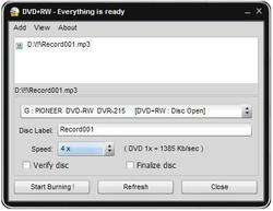 Easy Disc Burner Screenshot