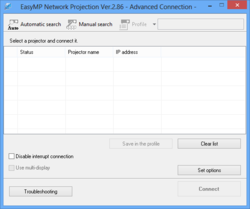 EasyMP Network Projection Screenshot