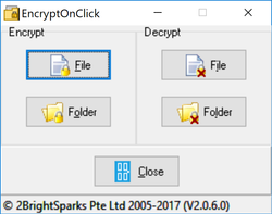 EncryptOnClick Screenshot