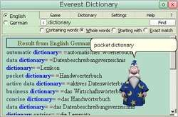 Everest Dictionary with databases Screenshot