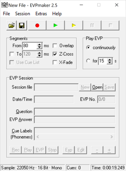 EVPmaker Screenshot