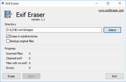 EXIF Eraser Screenshot