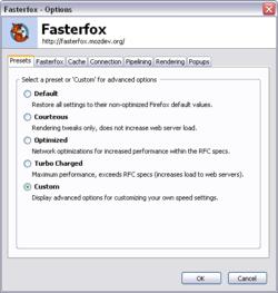 Fasterfox Screenshot